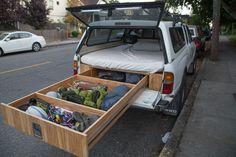 DIY truck-bed drawer system.