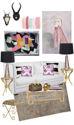 living room design board  via Look Linger Love and Jen Ramos