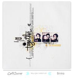 Carto scrap : I love the design and black/white/yellow together. Love Scrapbook, Scrapbook Layout Sketches, Scrapbook Albums, Scrapbooking Layouts, Scrapbook Cards, Digital Scrapbooking, Scrapbook Supplies, Mini Albums, Mini Album Scrap