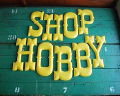 great vintage plastic letters