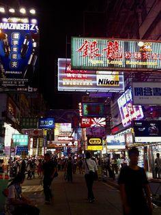 Neon signs in Hong Kong's #Mongkok area.
