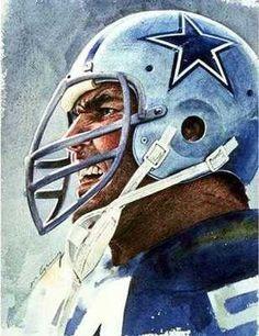 Dallas Cowboys Chuck Howley by Mev Corning