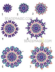 Free pattern for earrings Bonny | Beads Magic twin-nel