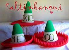 SALTIMBANQUI COTILLÓN EN CORDOBA: Mexicana September Art, Crafts For Kids, Arts And Crafts, Mexican Crafts, 25 Days Of Christmas, Kindergarten Crafts, Mexican Party, Fiesta Party, Foam Crafts