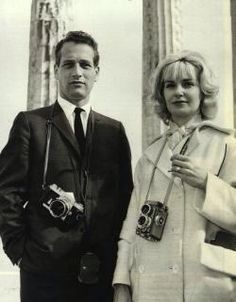 Paul Newman, the famous American actor and film director with Joan Woodward on the Acropolis of Athens