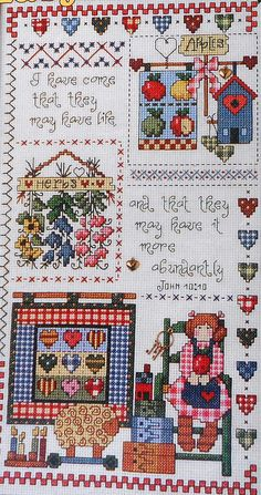 Jeremiah Junction Abundant Life Sampler - Counted Cross Stitch Pattern