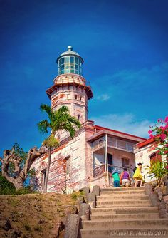 Cape Bojeador Lighthouse also known as Burgos Lighthouse , Philippines