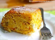 Torta de Maduro (Ripe Plantain and Cheese Cake)-My Colombian Recipes