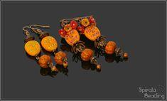 Beaded Fall Collection 2019 Designed August/September 2019 for Rutkovsky Beads . Dedicated to Karolina Emingrová ( Kaja Bijoux ), . Beaded Skull, Fall Collections, Beading, Pumpkin, Halloween, Funny, Design, Beads, Pumpkins