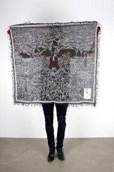 PERKS & MINI WITH SUSUMU MUKAI, SUSUMU SCARF: black and white scarf collection needs this.