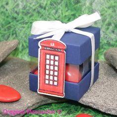 Ballotin dragées en kit - cube Cabine Anglaise