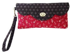 """Try your sewing skills with the many sewing techniques used in this wristlet projectsuch as installing the twist-lock hardware, creating the card-holder pockets, and sewing a wrist strap. This walletmeasures8 1/2 """" wideX 4 1/2 """" highX 1""""deep. If you need extra help with the twist-lock closure there"""
