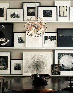 Black + White Gallery Wall via Erin Williamson