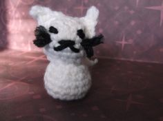 Mini Tiny White Crochet Cat Amigurumi by SalemsShop on Etsy, $8.00