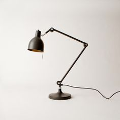 Black Desk Lamp by Ӧrsjӧ Belysning Eco Furniture, Sustainable Furniture, Recycled Furniture, Teenage Room, Desk Light, Black Lamps, Work Lights, Light And Shadow, Desk Lamp