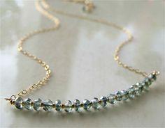 Sorrento Necklace with Mystic Blue Quartz