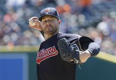 Cleveland Indians starting pitcher Corey Kluber throws during the first inning of Saturday's game against the Detroit Tigers. Indians won 10-1 (Carlos Osorio, AP)
