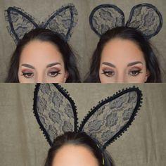 Halloween Costume Ideas: DIY Lace Bunny, Cat & Mouse Ears, UNDER $5  www.youtube.com/JZabalaoui