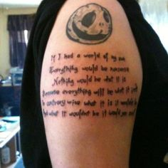 My newest tattoo a line from Alice in wonderland