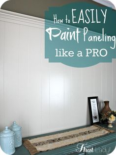 Easy Home Repair Hacks - Easily Paint Paneling Like A Pro - Quick Ways To Fix Your Home With Cheap and Fast DIY Projects - Step by step Tutorials, Good Ideas for Renovating, Simple Tips and Tricks for Home Improvement on A Budget Paint Over Wood Paneling, Wood Paneling Makeover, Painting Paneled Walls, Cover Wood Paneling, Shiplap Paneling, Panelling, Home Renovation, Home Remodeling, Bedroom Remodeling