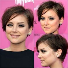 My new hairspiration....When I want to start growing my hair out just a little.