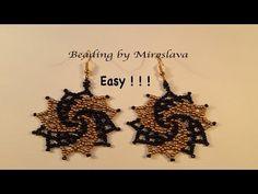 SUPER EASY Gracious Beaded Earrings. Beading Tutorial by Miroslava - YouTube