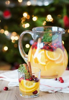 Cranberry Orange Christmas Sangria   Obsessive Cooking Disorder
