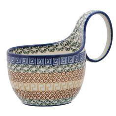 New Polish Pottery SOUP BOWL MUG Boleslawiec CA Pattern 50 European Stoneware
