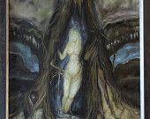 Das Mädchen im Baum, ein Ölgemälde des Künstlers Ralf Czekalla, Ölmalerei auf Leinwand, 40cm breit x 52cm hoch, gerahmt, von 2008