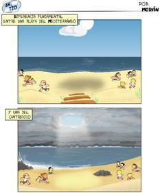 Diferencias de las playas de España