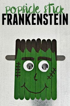 little Frankenstein is perfect for crafting with your kids this Halloween. Attach a magnet and hang him on your fridge.This little Frankenstein is perfect for crafting with your kids this Halloween. Attach a magnet and hang him on your fridge. Theme Halloween, Halloween Arts And Crafts, Halloween Crafts For Kids, Halloween Activities, Halloween Diy, Holiday Crafts, Halloween Costumes, Spring Crafts, Halloween Decorations