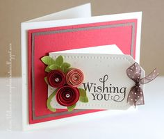 "Tag Card with a hidden message inside (""a day filled with happiness"") ~ by Laurie, Soapbox Creations"
