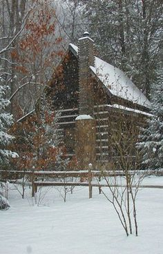 Log Cabin In The Winter / Barn Homes and cabins on imgfave