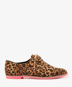Neon Sole Leopard Oxfords | FOREVER21 - $27