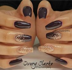 New Year's Nails, Hair And Nails, Nails For New Years, Nails 2016, Nails For January, New Years Nail Art, Gorgeous Nails, Pretty Nails, Uñas Color Cafe