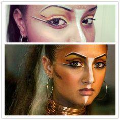 First try at Tribal makeup Tribal Face Paints, Circus Makeup, Tribal Makeup, Performance Makeup, Fx Makeup, Spring Makeup, Hair Shows, Fantasy Makeup, Costume Makeup