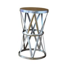 Threshold™ Round Hammered Metal Accent Table Quick Information- deck or patio