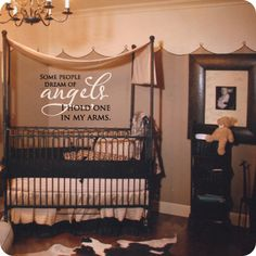 Some People Dream of Angels (wall decal from WallWritten.com).