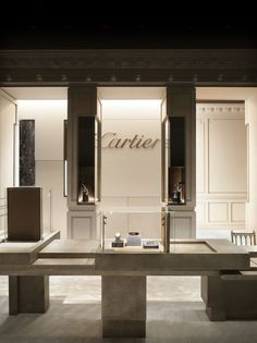 {Today's Friday Feature - Tristan Auer - also did a slew of commercial spaces for Cartier. Love the display case compositions and how they don't necessarily have anything to do with the traditional. Design Shop, Jewellery Shop Design, Jewellery Showroom, Shop Interior Design, Retail Design, Design Design, Cartier Store, Cartier Jewelry, Retail Architecture
