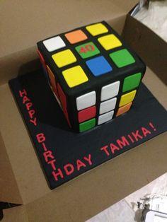 Rubix cube cake!