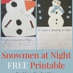 Teacher Mama:  Snowmen at Night FREE Printable {After School Linky}