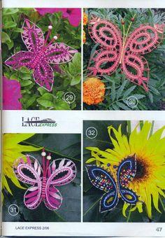Album, Brooch, Lace, Crocheting, Needle Tatting Patterns, Butterflies, Bobbin Lace, Crochet, Chrochet