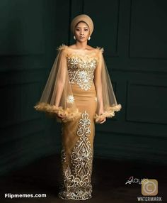 Nigerian Lace Styles Dress, Aso Ebi Lace Styles, African Lace Styles, Lace Dress Styles, Latest African Fashion Dresses, African Dresses For Women, African Attire, Ankara Styles, Lace Styles For Wedding
