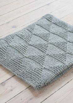 Nr 12 Teppe i Alfa pattern by Sandnes Design – Knitting Blanket Designs Free Baby Blanket Patterns, Easy Knitting Patterns, Free Knitting, Knitting Projects, Baby Knitting, Ravelry, Knit Rug, Knitted Baby Blankets, Baby Afghans