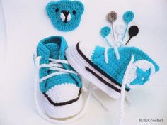 Blue converse shoes, Baby Boy Shoes, Crochet Baby Sneakers, Converse style, Boys booties, Baby sneaker booties, Baby shower gift,choose size by BUBUCrochet on Etsy