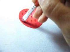 Pintura em tecido- morango