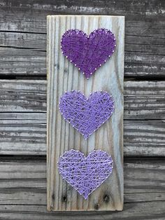 Plataforma madera tres corazón cadena arte arte de cadena String Art Heart, String Wall Art, Nail String Art, Diy Crafts For Girls, Crafts To Do, Arts And Crafts, Christmas Crafts To Make, Valentine Crafts, String Art Patterns
