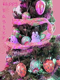 A rose-toned hue has been added to the original photo of one of my Easter trees decorated with an assortment of decorative plastic eggs and bunnies. Easter Tree Decorations, Egg Tree, Digital Art Photography, Plastic Eggs, Vintage Easter, Happy Easter, Easter Eggs, Hue, Fine Art America