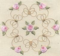 Bullion Rose Quilt 1 - Artistic Designs | OregonPatchWorks