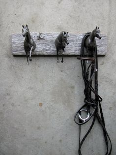 Horses! Cool rack for your tack (or clothing!). Unique way to hook it up, by Lauren Radvansky of EQUINEbyLauren.